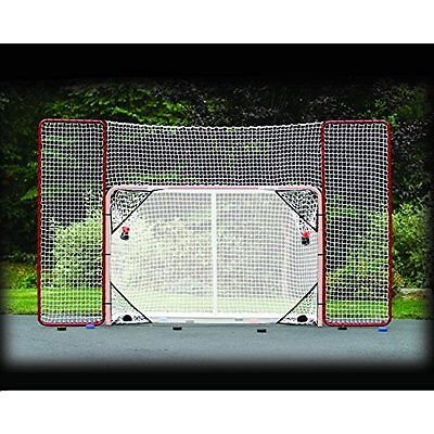 Hockey Goal Backstop Net Kit Practice Shooting Puck Ball At Target Outside Nhl