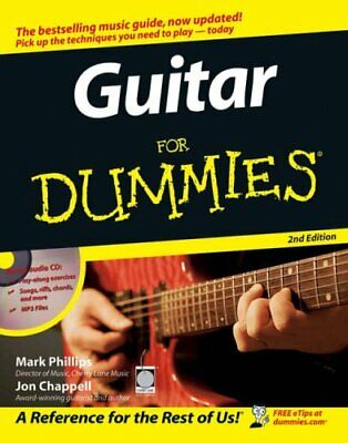 Guitar For Dummies by Chappell, Jon Paperback Book The Cheap Fast Free Post