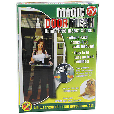 Magic Door Mesh With Magnetic Fastening Hands Free Bug Fly Insect Screen