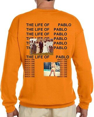 **Sale** Kanye West The Life Of Pablo Album New Long Sleeve T-shirt Yeezy Yeezus