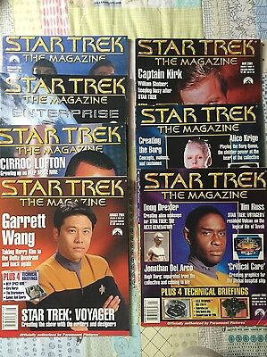 STAR TREK THE MAGAZINE - 2001 – Lot of 7 Issues