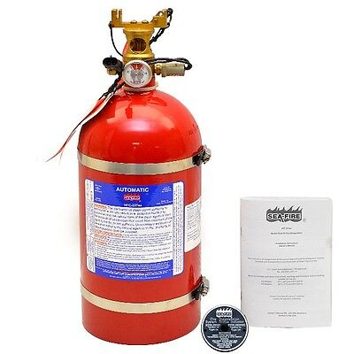 Sea Ray 1788085 Sea Fire HFC-227ea Red 250 CF Marine Boat Fire Extinguisher