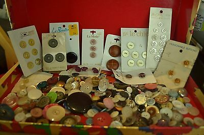 Vintage Buttons, Some Old, Some Very Old, Lot #  M68