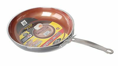 "Non-Stick Copper Titanium Steel Frying Pan 10"" Ceramic Induction As Seen on TV"