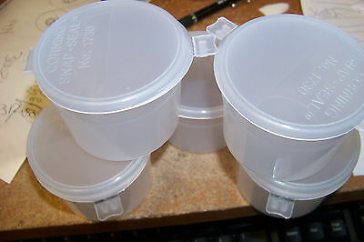 new corning 1730-4l 120mL wide mouth short snap seal container  ~ 5ct ~ crafts
