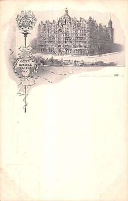 London United Kingdom Hotel Russell Exterior Antique Postcard K17410
