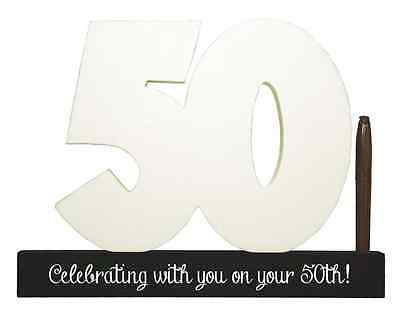 NEW Splosh Wooden Signature Number 50th Birthday Plaque You Sign With Pen SGN50