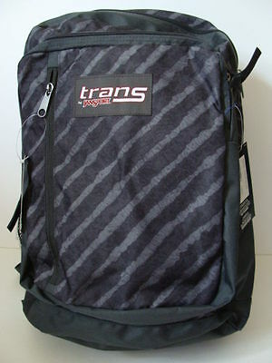 Brand New Jansport Trans Megahertz Grey Stripe Book Laptop Backpack T30BZX1 NWT