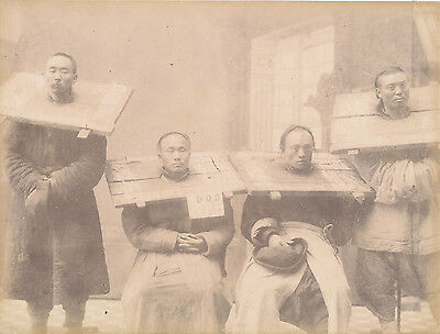 Original photo People in the Cange China C1880