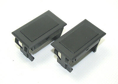 CARLING LS SERIES Full Size Rocker Switch Blank Cover Plate Snap In Pair (2)