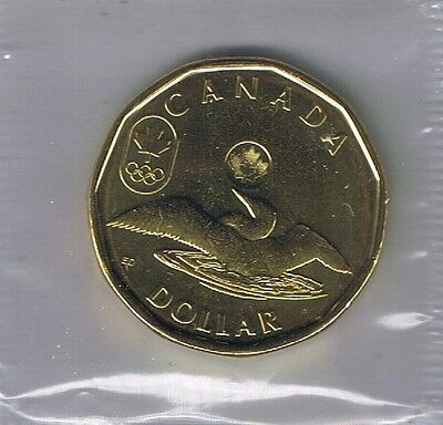 2012 For London Olympic Lucky Loonie Canada $1 Coin In Rcm Wrap Unc. Canadian