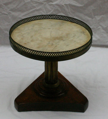 """Magnificent 19 C French Mini Marble Top Round Table """" Must See """""""