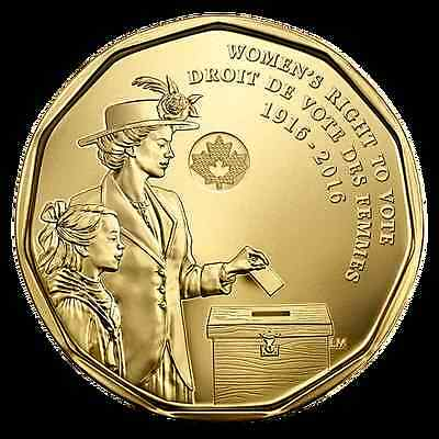 2016 Canada - 150 Anniversary Of Women's Right To Vote $1 Loonie Coin Mint Wrap