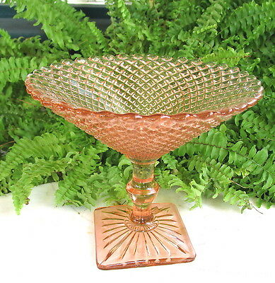 Lovely Pink Anchor Hocking  Miss America Depression Glass Candy Or Nut Compote