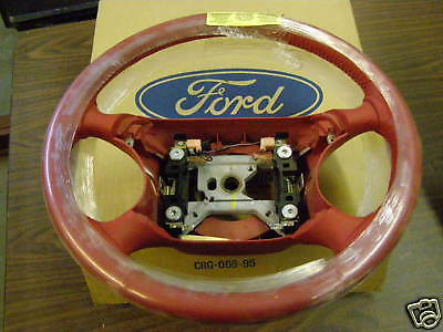 NOS 1994 1995 Ford Mustang Red Leather Steering Wheel