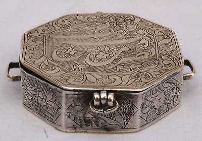 Magnificent 1800's Persian Coin Silver Qoran Box