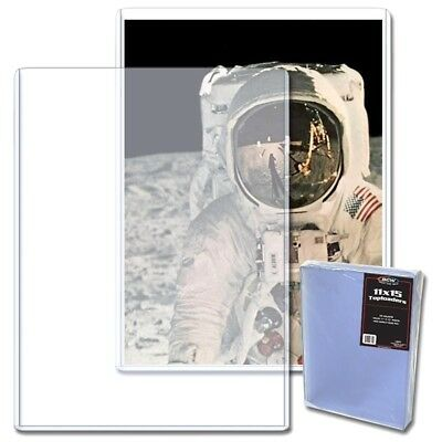 10 BCW 11X15 Rigid Plastic Toploaders Photo Document Print Menu