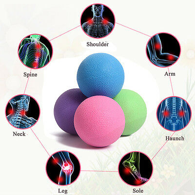 New Lacrosse Ball Crossfit Injury Rehab Therapy Trigger Point Gym Yoga Tool