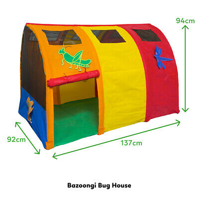 New Lifespan Kids Bazoongi Bug Pop Up Play Tent Indoor Cubby House Toy