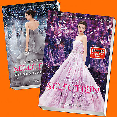 Set: KIERA CASS | SELECTION (Band 4+5) | Kronprinzessin + Die Krone (Buch)