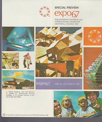 Expo 67 Special Preview Brochure Montreal Canada 1967