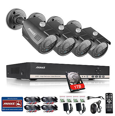 Sannce Camera Home Security System Kit Monitor 4CH 720P HDMI 2 Outdoor Video New