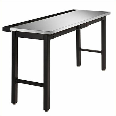"Newage 72"" Work Bench with Stainless Steel Top and Powerbar"