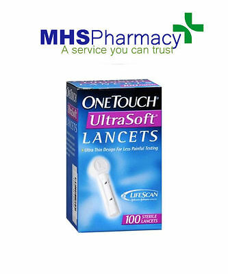 One Touch UltraSoft lancets,pack of 100- Ultra thin, virtually pain free testing