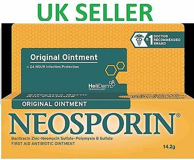 *UK* Neosporin Original Ointment Antibiotic First Aid Cream for Infections 14.2g