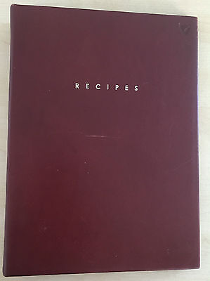 Aspinal of London Personal Recipe Ring Binder in Smooth Cognac.