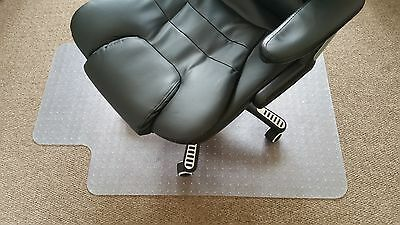 NEW! Home Office Computer Chair Mat Carpet Protection Clear PVC W900 x D1200mm