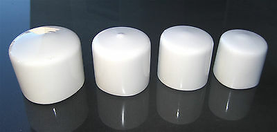 White Round Flexible Vinyl End Cap Cover Rubber Plastic Bar Post Pipe Tube Pole