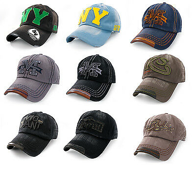 Casual BASEBALL CAP HAT SNAP BACK Size Adjustable Strap Unisex Mens Women NY