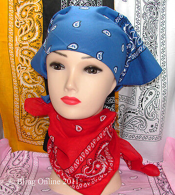Paisley Bandanna Head Neck Scarf Bandana Fancy Dress Line Dance Cowboy Biker.