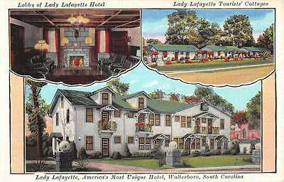 Walterboro South Carolina Lady Lafayette Tourist Court Antique Postcard K19381