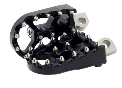 HARLEY DAVIDSON DYNA FOOTPEGS  FOOT PEGS BLACK  MX STYLE By Flo Motorsporsports