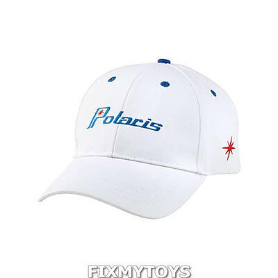 OEM Polaris White Look Back Retro Adjustable Baseball Cap Hat