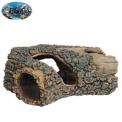 Ellie-Bo Tree Trunk Handpainted Polyresin Aquarium Ornament, 23 x 15.5 x 10 cm