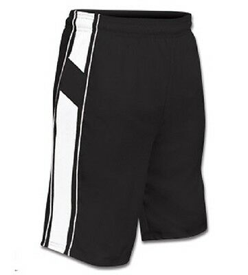 New Champro Dri-Gear Youth All Sport Basketball Polyester Shorts Black & White
