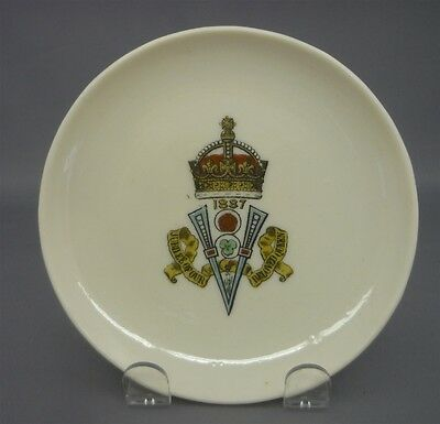 c1887 Queen Victoria Golden Jubilee Side Plate Goss Crested China England