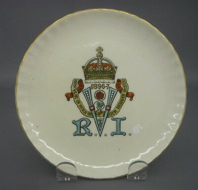 c1897 Queen Victoria Diamond Jubilee Side Plate Goss Crested China England