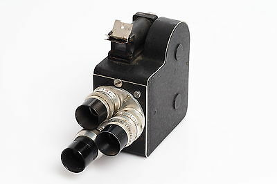 Leveque L.D.8 LD8 French 8mm Movie Camera w. 3x Som Berthiot