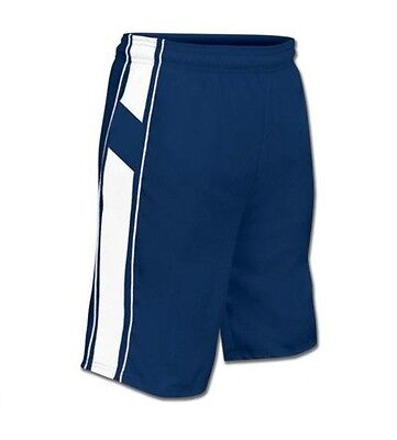 New Champro Dri-Gear Youth  All Sport Basketball Polyester Shorts Royal & White