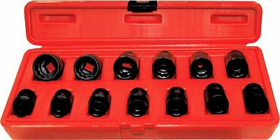 """T&E Tools 98412 13 Piece 1/2"""" Drive 12 Point Impact Sockets 10 -24mm"""