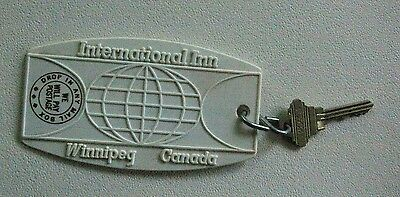 Vintage Hotel Room Key International Inn Winnipeg Canada