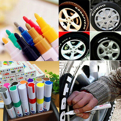 7 Colors Creative Permanent Paint Pen Car Tire Metal Outdoor Marking Ink Marker