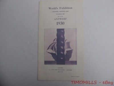 1930 Antwerp Exhibition World's Fair Colonies Shipping & Flemish Art Brochure
