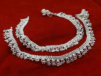 Wedding Silver Tone Chain Anklet Indian Beach Barefoot Ankle Bracelet Jewelry