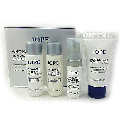 [IOPE] Whitegen Skin Luminous VIP Sprecial Gift Kit 4 Items / Samples Size NEW