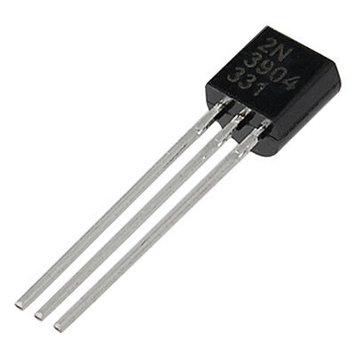 10 x 2N3904 NPN General Purpose Amplifier Transistor, TO-92, 200mA, 40v, 250MHz
